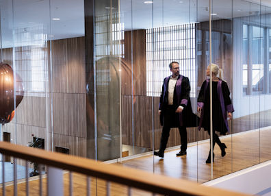 Two prosecutors walking after being to the court